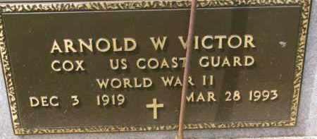 VICTOR, ARNOLD W. (WW II MARKER) - Dixon County, Nebraska | ARNOLD W. (WW II MARKER) VICTOR - Nebraska Gravestone Photos