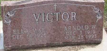 VICTOR, ELLA MAE - Dixon County, Nebraska | ELLA MAE VICTOR - Nebraska Gravestone Photos