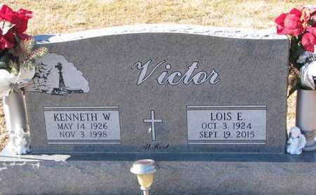 VICTOR, KENNETH W. - Dixon County, Nebraska | KENNETH W. VICTOR - Nebraska Gravestone Photos