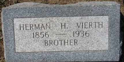 VIERTH, HERMAN H. - Dixon County, Nebraska   HERMAN H. VIERTH - Nebraska Gravestone Photos