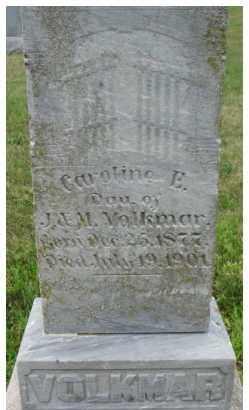 VOLKMAR, CAROLINE E. - Dixon County, Nebraska | CAROLINE E. VOLKMAR - Nebraska Gravestone Photos