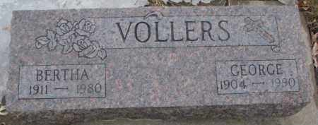 VOLLERS, BERTHA - Dixon County, Nebraska | BERTHA VOLLERS - Nebraska Gravestone Photos