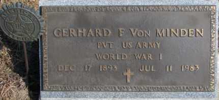 VON MINDEN, GERHARD F. - Dixon County, Nebraska   GERHARD F. VON MINDEN - Nebraska Gravestone Photos