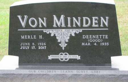 VON MINDEN, DEENETTE - Dixon County, Nebraska | DEENETTE VON MINDEN - Nebraska Gravestone Photos