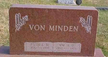 VON MINDEN, RUTH L.M. - Dixon County, Nebraska   RUTH L.M. VON MINDEN - Nebraska Gravestone Photos