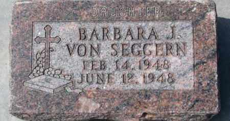 VON SEGGERN, BARBARA J. - Dixon County, Nebraska | BARBARA J. VON SEGGERN - Nebraska Gravestone Photos