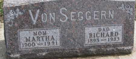 VON SEGGERN, MARTHA - Dixon County, Nebraska | MARTHA VON SEGGERN - Nebraska Gravestone Photos