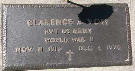 VOSS, CLARENCE A. (WW II MARKER) - Dixon County, Nebraska | CLARENCE A. (WW II MARKER) VOSS - Nebraska Gravestone Photos