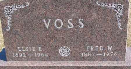 VOSS, FRED W. - Dixon County, Nebraska | FRED W. VOSS - Nebraska Gravestone Photos