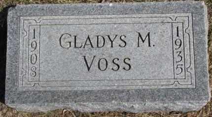 VOSS, GLADYS M. - Dixon County, Nebraska   GLADYS M. VOSS - Nebraska Gravestone Photos