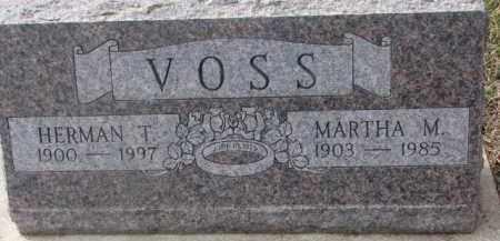 VOSS, MARTHA M. - Dixon County, Nebraska | MARTHA M. VOSS - Nebraska Gravestone Photos