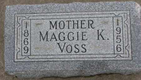 VOSS, MAGGIE K. - Dixon County, Nebraska | MAGGIE K. VOSS - Nebraska Gravestone Photos