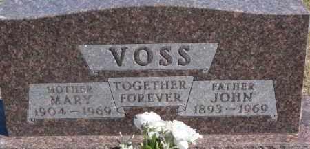 VOSS, MARY - Dixon County, Nebraska | MARY VOSS - Nebraska Gravestone Photos
