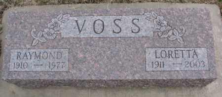 VOSS, RAYMOND - Dixon County, Nebraska | RAYMOND VOSS - Nebraska Gravestone Photos