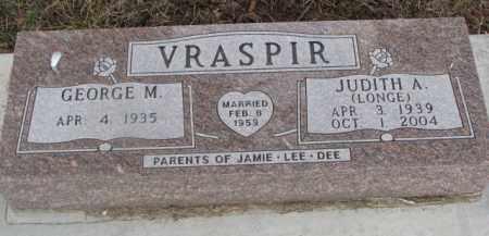 VRASPIR, JUDITH A. - Dixon County, Nebraska | JUDITH A. VRASPIR - Nebraska Gravestone Photos