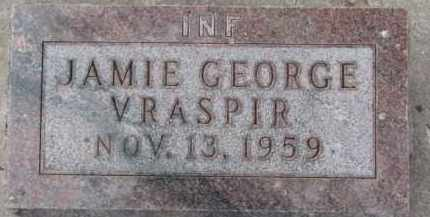 VRASPIR, JAMIE GEORGE - Dixon County, Nebraska | JAMIE GEORGE VRASPIR - Nebraska Gravestone Photos