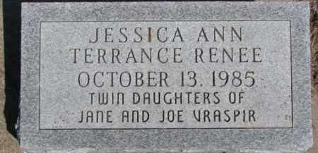 VRASPIR, JESSICA ANN - Dixon County, Nebraska | JESSICA ANN VRASPIR - Nebraska Gravestone Photos
