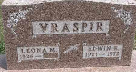 VRASPIR, EDWIN E. - Dixon County, Nebraska | EDWIN E. VRASPIR - Nebraska Gravestone Photos
