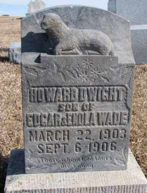 WADE, HOWARD DWIGHT - Dixon County, Nebraska | HOWARD DWIGHT WADE - Nebraska Gravestone Photos
