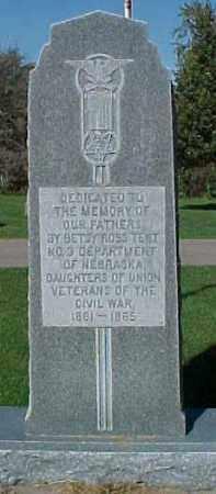 *WAKEFIELD, UNION VETS MONUMENT - Dixon County, Nebraska | UNION VETS MONUMENT *WAKEFIELD - Nebraska Gravestone Photos