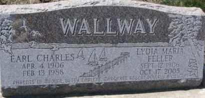 FELLER WALLWAY, LYDIA MARIA - Dixon County, Nebraska   LYDIA MARIA FELLER WALLWAY - Nebraska Gravestone Photos