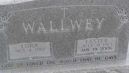 WALLWEY, LORA - Dixon County, Nebraska | LORA WALLWEY - Nebraska Gravestone Photos