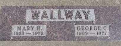 WALLWAY, MARY H. - Dixon County, Nebraska | MARY H. WALLWAY - Nebraska Gravestone Photos