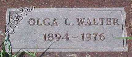 WALTER, OLGA L. - Dixon County, Nebraska   OLGA L. WALTER - Nebraska Gravestone Photos