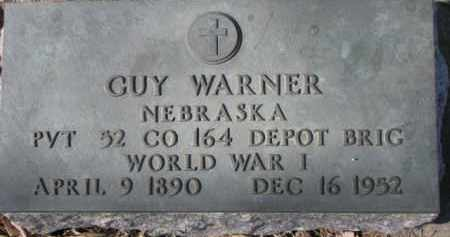 WARNER, GUY (MILITARY MARKER) - Dixon County, Nebraska | GUY (MILITARY MARKER) WARNER - Nebraska Gravestone Photos