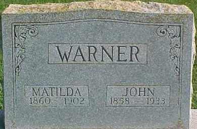 WARNER, MATILDA - Dixon County, Nebraska | MATILDA WARNER - Nebraska Gravestone Photos