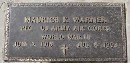 WARNER, MAURICE K. (WW II MARKER) - Dixon County, Nebraska | MAURICE K. (WW II MARKER) WARNER - Nebraska Gravestone Photos