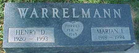 WARRELMANN, MARIAN I - Dixon County, Nebraska | MARIAN I WARRELMANN - Nebraska Gravestone Photos