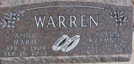 WARREN, ANNA MARIE - Dixon County, Nebraska | ANNA MARIE WARREN - Nebraska Gravestone Photos