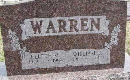 WARREN, ELLETH M. - Dixon County, Nebraska   ELLETH M. WARREN - Nebraska Gravestone Photos