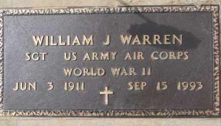 WARREN, WILLIAM J. (WW II MARKER) - Dixon County, Nebraska | WILLIAM J. (WW II MARKER) WARREN - Nebraska Gravestone Photos