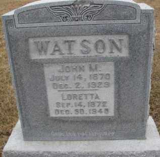 WATSON, JOHN M. - Dixon County, Nebraska | JOHN M. WATSON - Nebraska Gravestone Photos