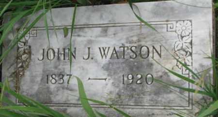 WATSON, JOHN J. - Dixon County, Nebraska   JOHN J. WATSON - Nebraska Gravestone Photos