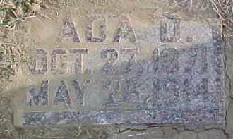 WAY, ADA D. - Dixon County, Nebraska   ADA D. WAY - Nebraska Gravestone Photos