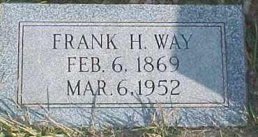 WAY, FRANK H. - Dixon County, Nebraska   FRANK H. WAY - Nebraska Gravestone Photos