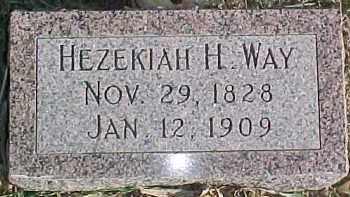 WAY, HEZEKIAH H. - Dixon County, Nebraska | HEZEKIAH H. WAY - Nebraska Gravestone Photos