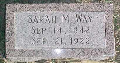 WAY, SARAH M. - Dixon County, Nebraska | SARAH M. WAY - Nebraska Gravestone Photos