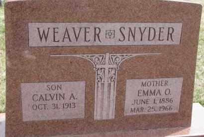 WEAVER-SNYDER, EMMA O. - Dixon County, Nebraska | EMMA O. WEAVER-SNYDER - Nebraska Gravestone Photos