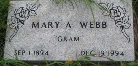 WEBB, MARY A. - Dixon County, Nebraska | MARY A. WEBB - Nebraska Gravestone Photos