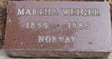 WEIGER, MARTHA - Dixon County, Nebraska | MARTHA WEIGER - Nebraska Gravestone Photos