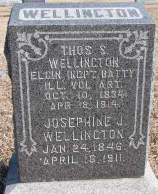 WELLINGTON, THOS S. - Dixon County, Nebraska | THOS S. WELLINGTON - Nebraska Gravestone Photos