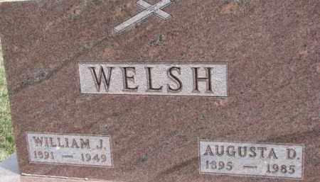 WELSH, AUGUSTA D. - Dixon County, Nebraska | AUGUSTA D. WELSH - Nebraska Gravestone Photos