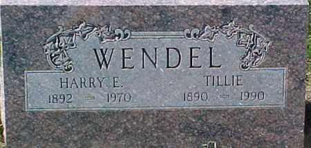 WENDEL, TILLIE - Dixon County, Nebraska | TILLIE WENDEL - Nebraska Gravestone Photos