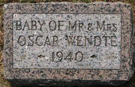 WENDTE, BABY 1940 - Dixon County, Nebraska | BABY 1940 WENDTE - Nebraska Gravestone Photos