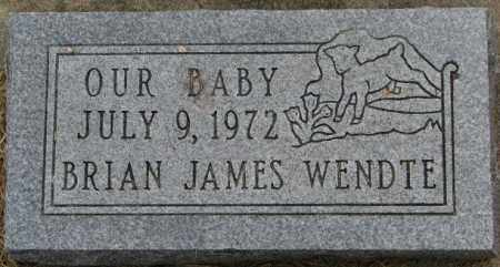 WENDTE, BABY 1972 - Dixon County, Nebraska   BABY 1972 WENDTE - Nebraska Gravestone Photos