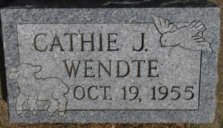 WENDTE, CATHIE J. - Dixon County, Nebraska | CATHIE J. WENDTE - Nebraska Gravestone Photos